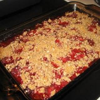 Rhubarb Strawberry Cake.