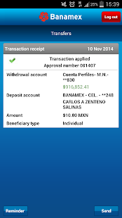 Banamex Mobile - screenshot thumbnail