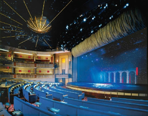 Celebrity_Infinity_Theater - When the sun goes down, the stage heats up in the theater aboard Celebrity Infinity.
