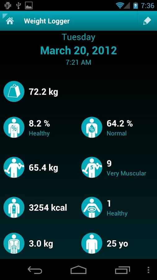 Weight Logger - screenshot