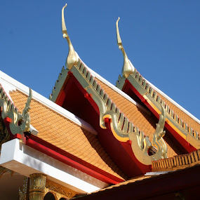 Thai Temple by Dianne Collins - Buildings & Architecture Architectural Detail