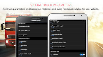 Screenshot of Sygic Truck GPS Navigation