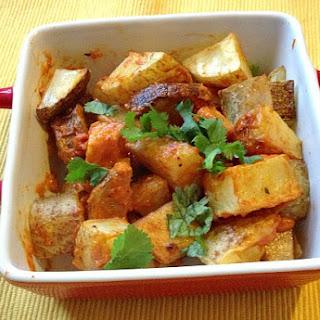 Spanish Potatoes with Roasted Tomato Cream Sauce Recipe