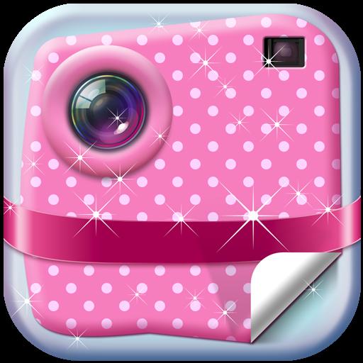 斯塔可愛的少女貼紙 攝影 LOGO-玩APPs