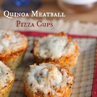 Quinoa Meatball Pizza Cups.