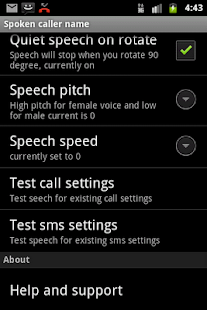 Talking SMS and Caller ID Free - screenshot thumbnail