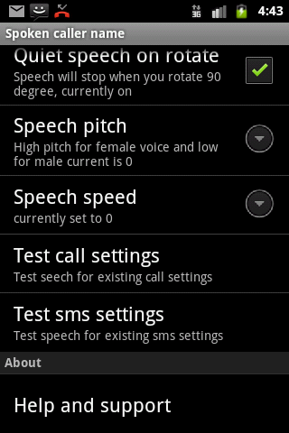 Talking SMS and Caller ID Free - screenshot