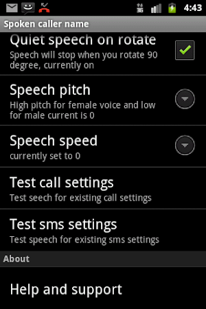 Talking SMS and Caller ID Free 1.16 screenshot 327540