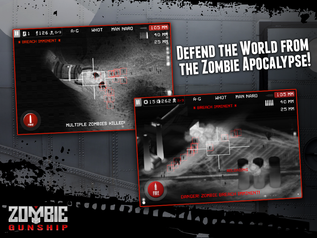 Zombie Gunship: Gun Dead 3D - screenshot