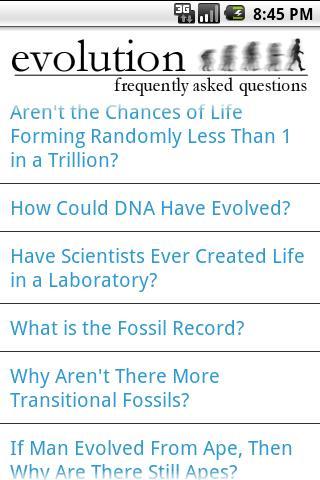 Evolution FAQ- screenshot