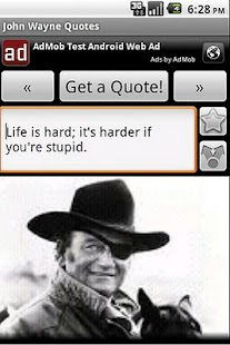 John Wayne Quotes - screenshot thumbnail