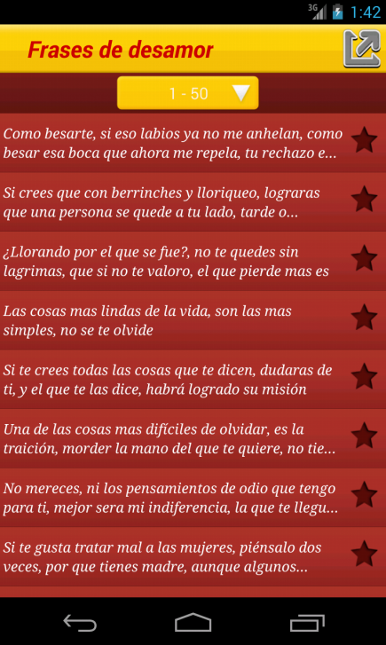 Frases de desamor - screenshot