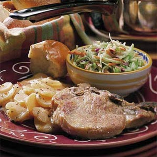 Easy Scalloped Potatoes and Chops