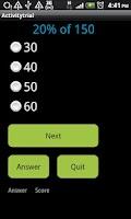 Screenshot of Math Fundamentals Lite