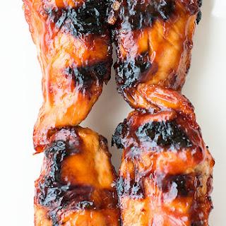 BBQ chicken tenderloin kabobs.