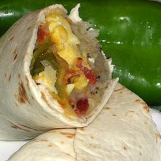 New Mexico Green Chile Breakfast Burritos