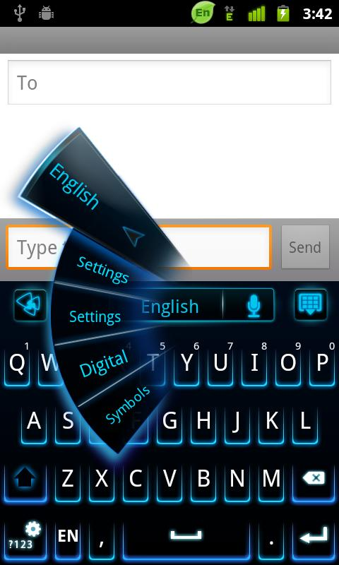 GO Keyboard Neon Theme - screenshot