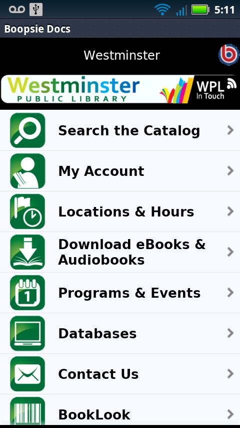 Westminster Library In Touch- screenshot