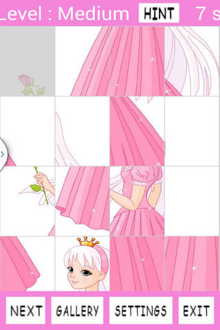 Princess Girls Jigsaw Puzzles - screenshot