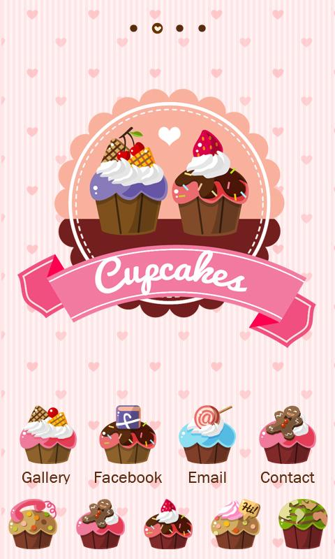 Cupcakes - GO Launcher Theme - screenshot