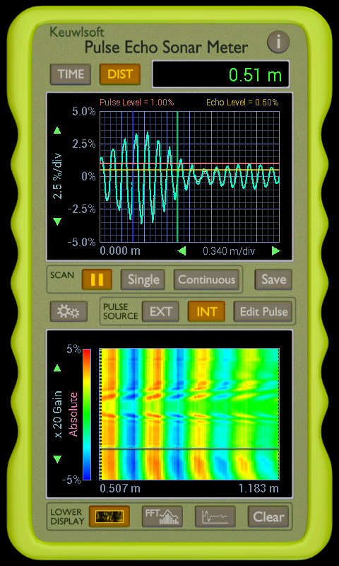 Pulse Echo Sonar Meter- screenshot