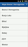Screenshot of Maps of Bosnia and Herzegovina