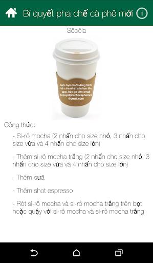 Bí quyết pha chế cà phê mới app (apk) free download for Android/PC/Windows screenshot