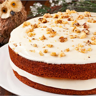 Pumpkin-Spice Cake with Orange Cream Cheese Frosting