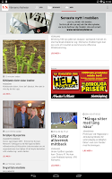 Screenshot of Värnamo Nyheter