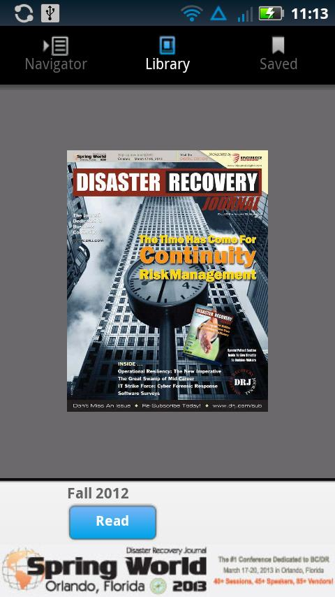 Disaster Recovery Journal- screenshot