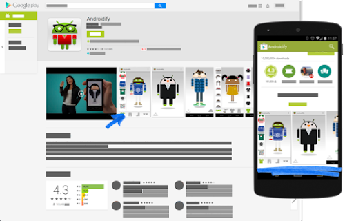 Graphic assets screenshots video play console help on the google play web store playgoogle tablet screenshots are prioritized and appear before phone screenshots reheart Images