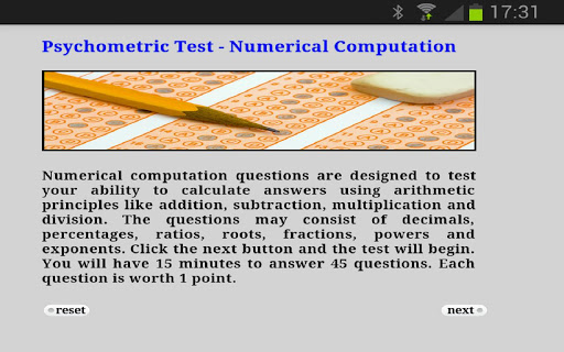 Psychometric Test Numerical