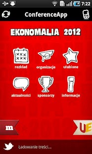 Ekonomalia 2012 ConferenceApp - screenshot thumbnail