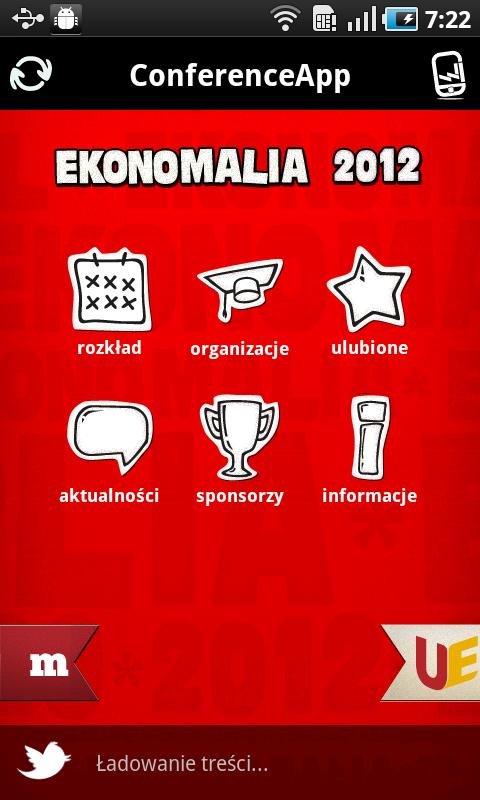 Ekonomalia 2012 ConferenceApp - screenshot