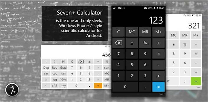 Seven+ WP7 Calculator