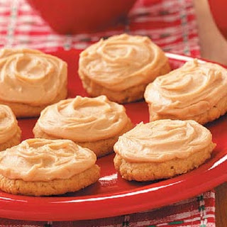 Frosted Peanut Cookies