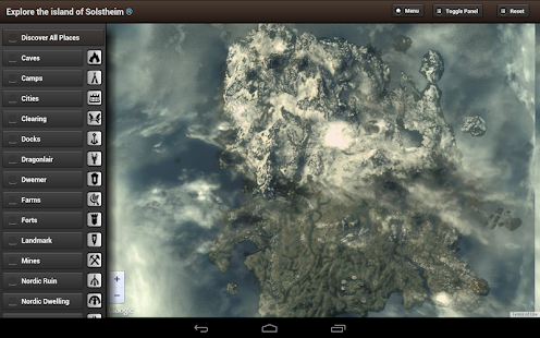 Skyrim Map HD (USA) - screenshot thumbnail