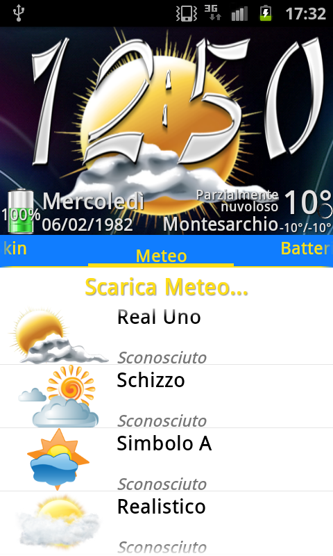 Real Uno Weather, PR.CLK wea- screenshot