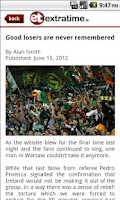 Screenshot of Extratime.ie