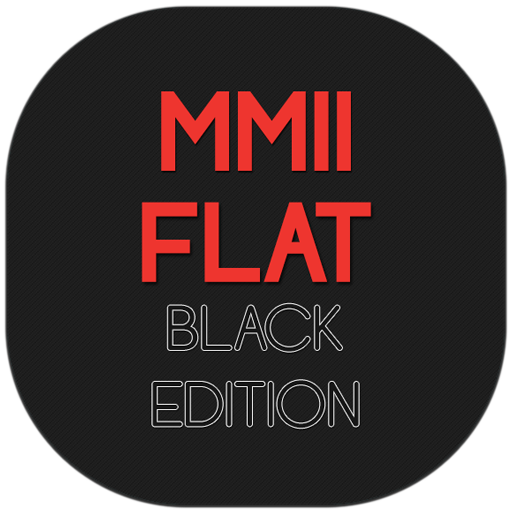 MMII FLAT Black Edition Theme LOGO-APP點子