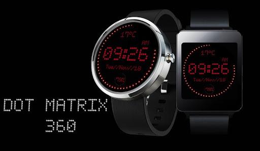 Dot Matrix Wear Face Moto 360