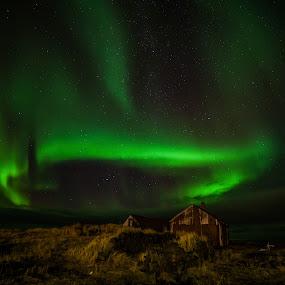 Old Cottage by Guðmundur Hjörtur - Landscapes Starscapes