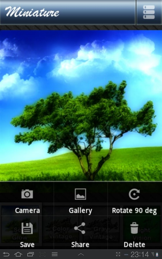 Photo Effect Pro (Miniature) - screenshot