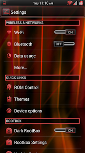 Laser Red CM11/AOKP Theme - screenshot thumbnail