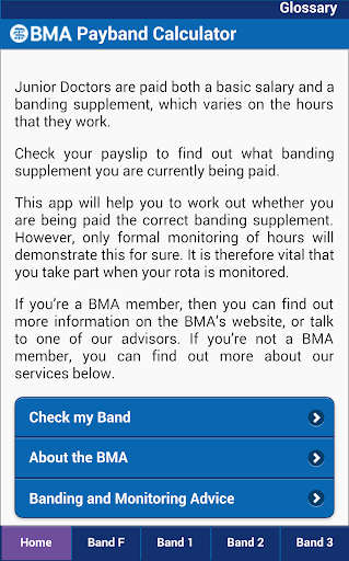 BMA Payband Calculator