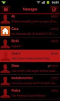Screenshot of GO SMS Theme Dark Red Black