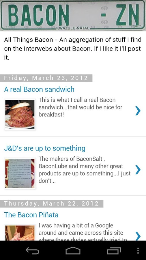 All Things Bacon- screenshot