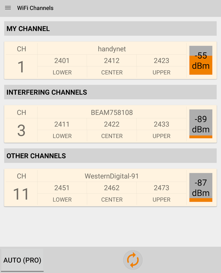 WIFI Signal Strength - screenshot
