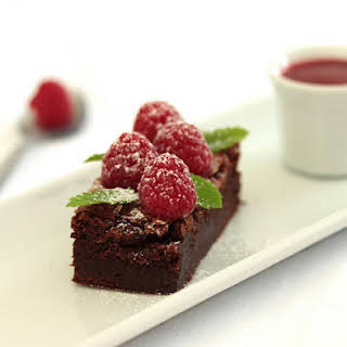 Raspberry Brownie.