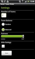 Screenshot of Smart Team Picker